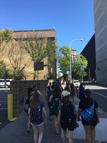 Walking to the National Constitution Center!