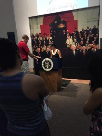 Honorite being sworn into the presidency!