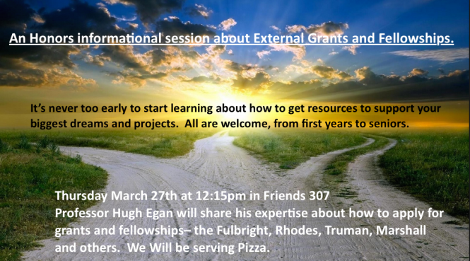 Information Session on grants an fellowships