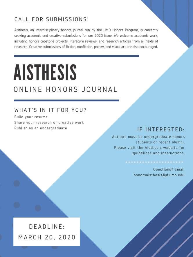 Aisthesis Flyer